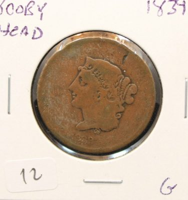 Booby Head Large Cent at Powell Auction