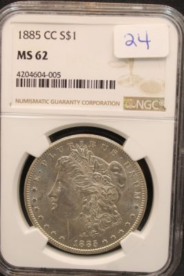 Carson City Morgan Silver Dollars at Powell Auction