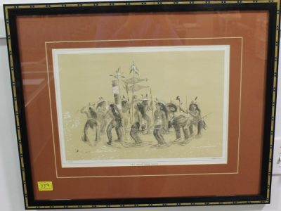 George Catlin Lithographs at Powell Auction