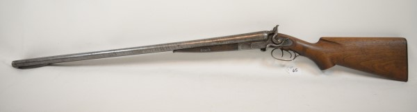 double barrel shotgun at powell auction
