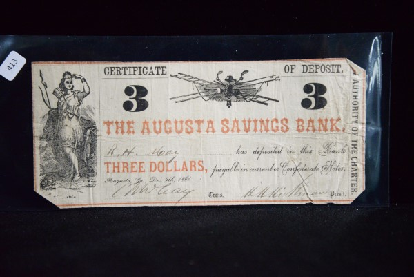 Civil War Money at Powell Auction