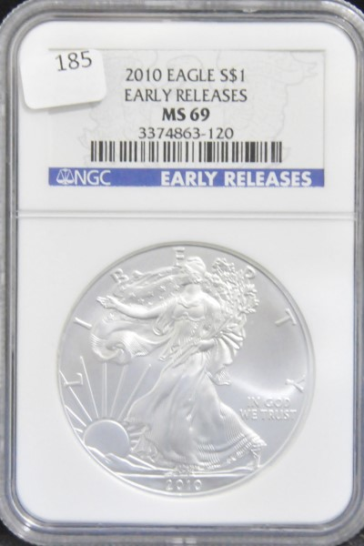 Silver Eagles at Powell Auction
