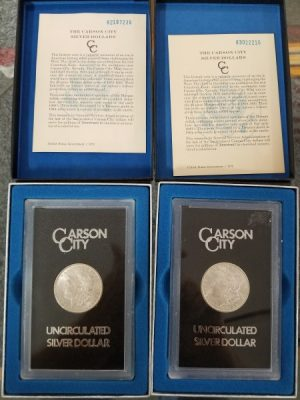 Carson City Morgan Dollars at Powell Auction